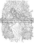 Art of Meadowhaven Coloring Page: Love Birds
