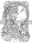 Art of Meadowhaven Coloring Page: Elvish