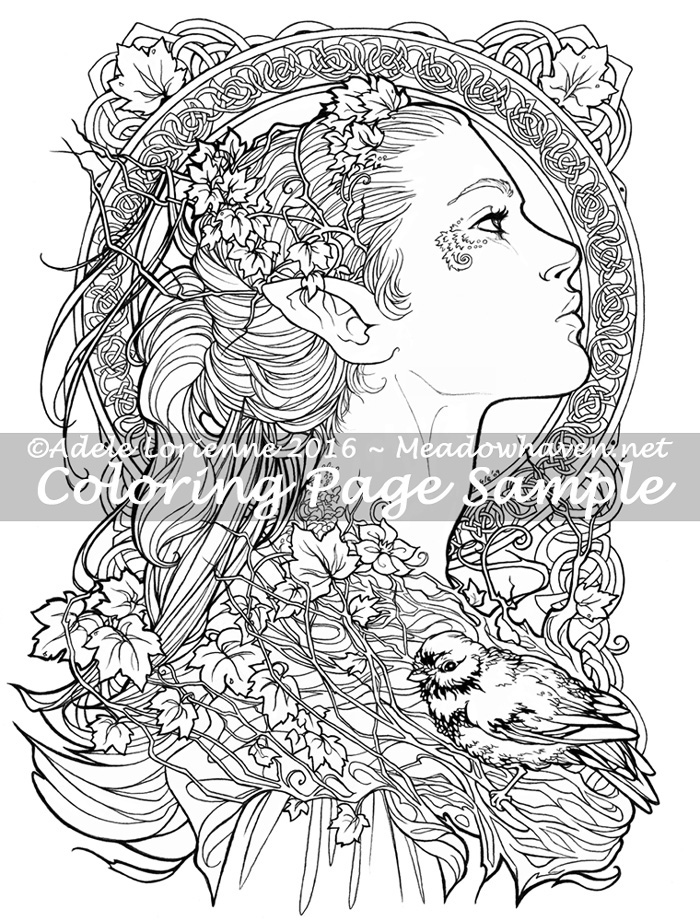 Art Of Meadowhaven Coloring Page Elvish By Saimain