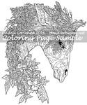 Art of Meadowhaven Coloring Page: Forest Giraffe