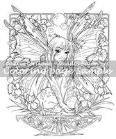 Art of Meadowhaven Coloring Page: Fairy Bubbles by Saimain