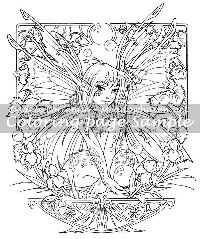 art of meadowhaven coloring page fairy bubbles by saimain