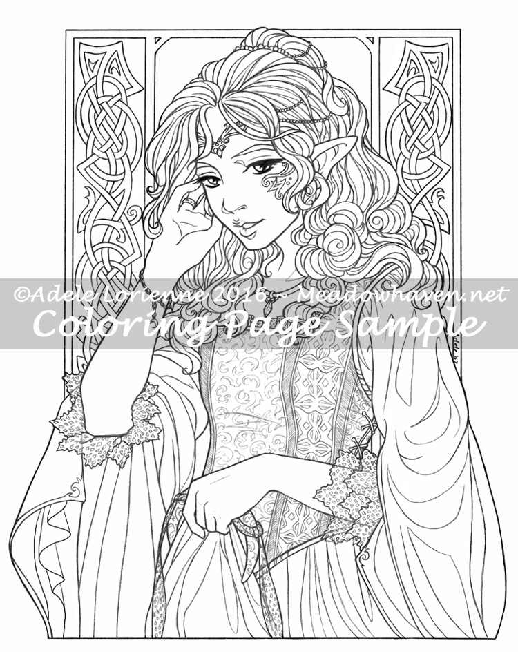 Elf Coloring Pages For Toddlers How To Draw A Fantasy Elf Coloring