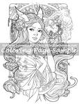 Art of Meadowhaven Coloring Page: Kitsune