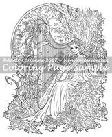 Art of Meadowhaven Coloring Page: Spring Song by Saimain