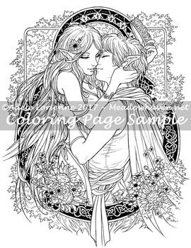 Art of Meadowhaven Coloring Page: Got Your Crown