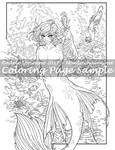 Art of Meadowhaven Coloring Page: Merfolk