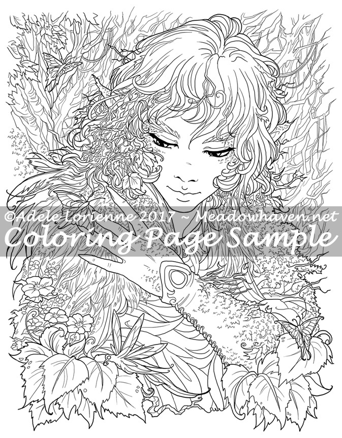 Art of Meadowhaven Coloring Page: Awakening