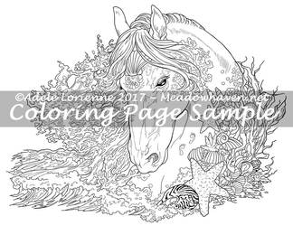 Art of Meadowhaven Coloring Page: SeaHorse