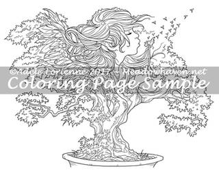Art of Meadowhaven Coloring Page: Bonsai Wishes