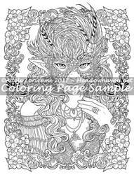 Art of Meadowhaven Coloring Page: Masquerade