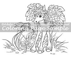 Art of Meadowhaven Coloring Page: Curiosity by Saimain