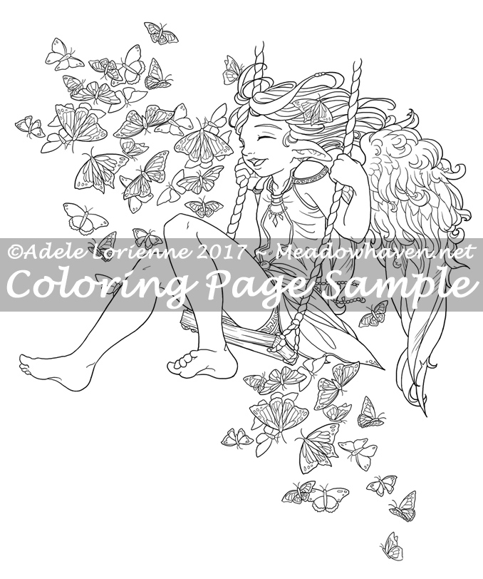 Art of Meadowhaven Coloring Page: Happy Days