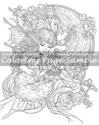 Art of Meadowhaven Coloring Page: New Life