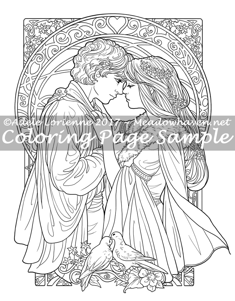 Art of Meadowhaven Coloring Page: Be Mine Always