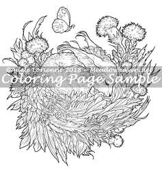 Art of Meadowhaven Coloring Page: Thistledown