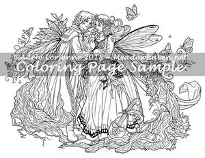 A Meadowhaven Fantasy Coloring Page: Faerie Gift