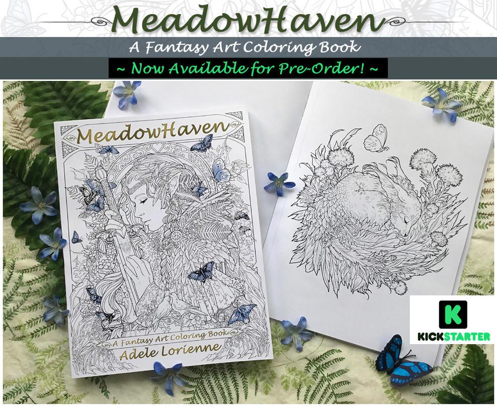MeadowHaven Fantasy Coloring Book Kickstarter by Saimain