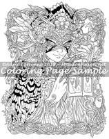 MeadowHaven Coloring Page: Bramble-Jay Masquerade by Saimain