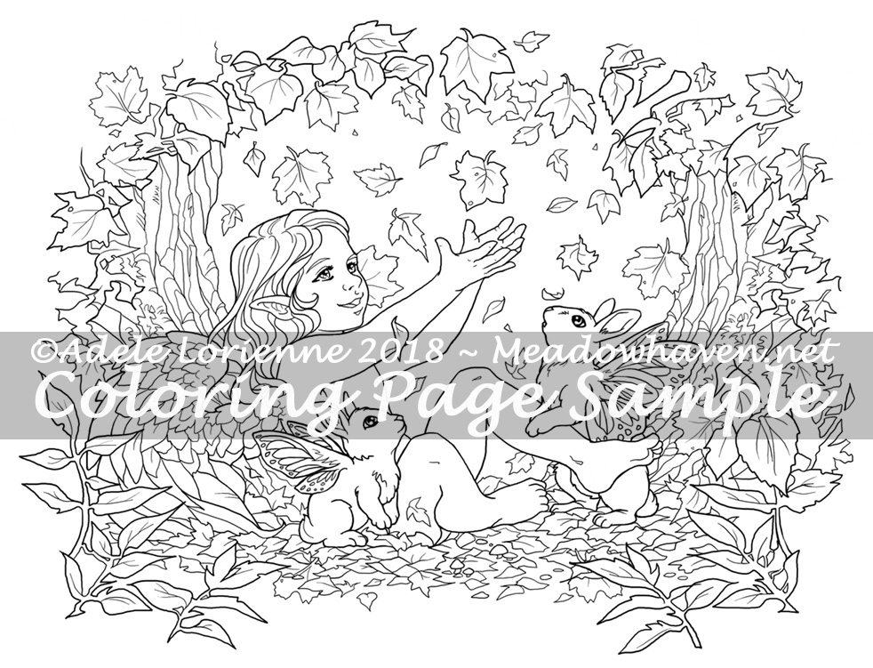 MeadowHaven Coloring Page: Autumn
