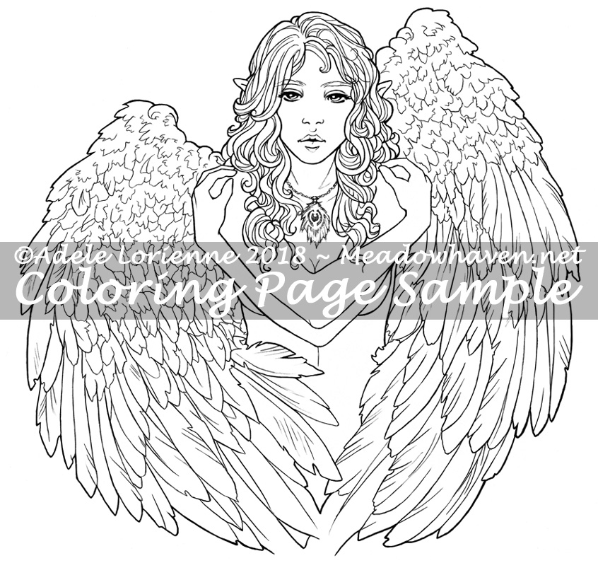 MeadowHaven Coloring Page: Heart of Gold
