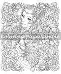 MeadowHaven Coloring Page:Feather-Light Masquerade