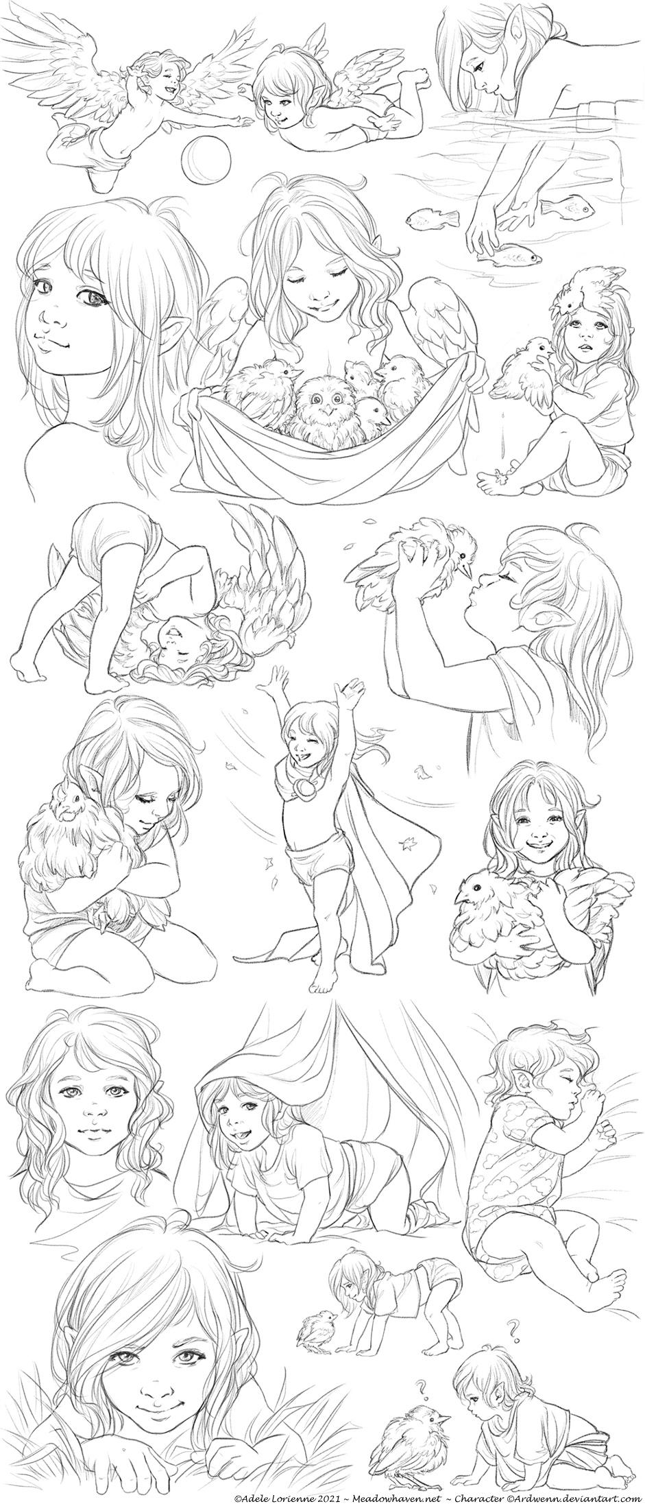 Elerus Sketchpage Collage