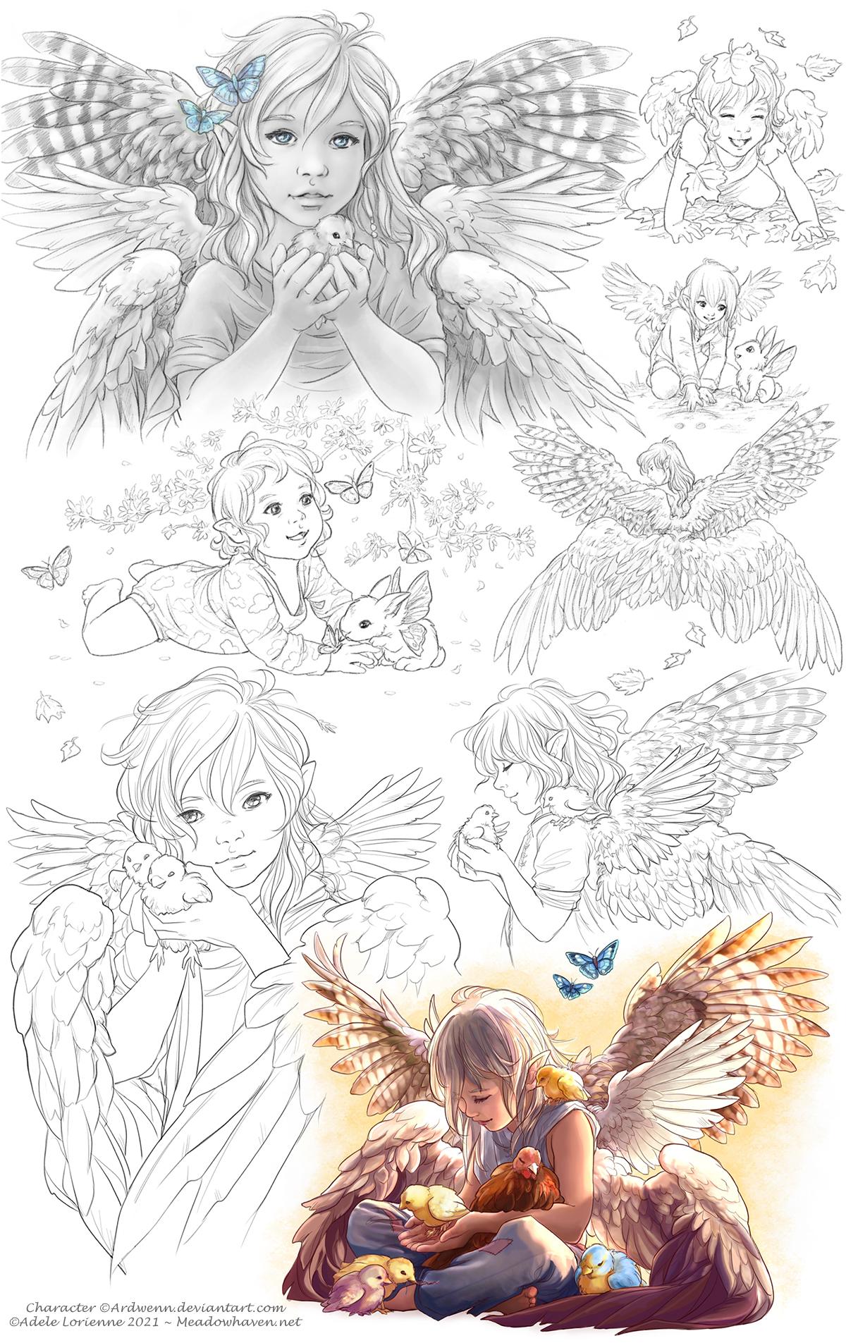 Elerus Sketchpages 36-37
