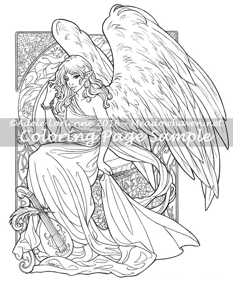MeadowHaven Coloring Page: Unconditional by Saimain on