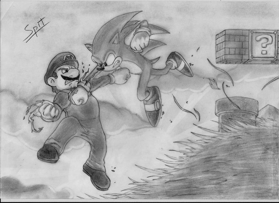 Sonic vs Mario by Spitfire5892 on DeviantArt
