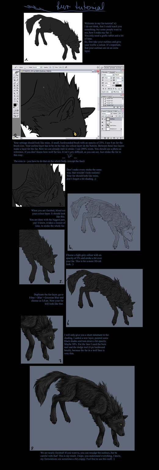 Wolf Fur Tutorial By Khalliys