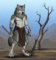 Commission - Somescarywolf by Khalliys