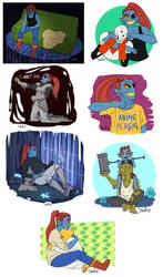 Undyne Appreciation [Undertale Spoilerish] by Khalliys
