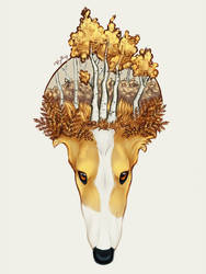 Autumn Borzoi by Khalliys