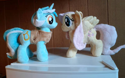Lyra Heartstrings And Fluttershy Plushies ^_^