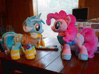Pinkie Pie And LyRa Plushies MLP:FIM