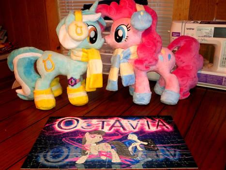 Octavia Jigsaw Puzzle With Lyra N Pinkie Plushies