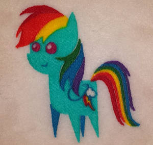 Chibi Rainbow Dash My Little Pony Embroidery File!