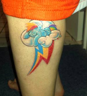 Rainbow Dash Tattoo ~ Sleeping on Her Cutie Mark
