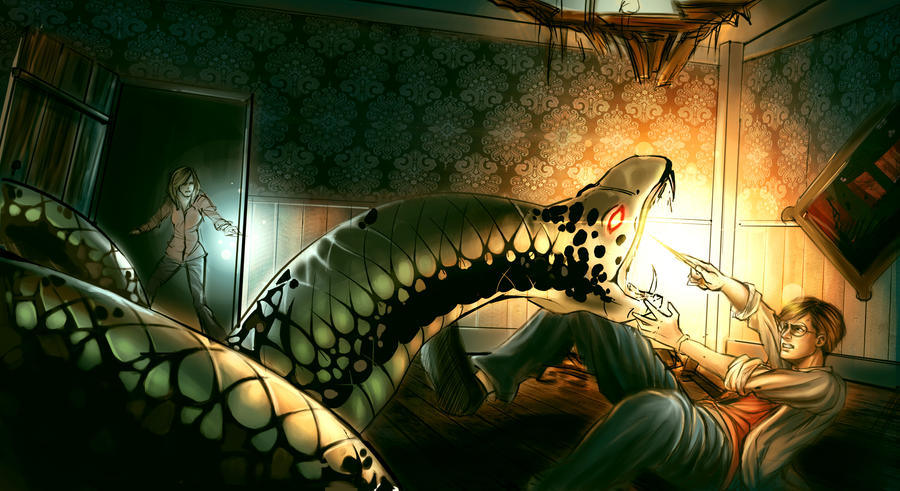 harry potter and nagini by hazelioussoya on DeviantArt