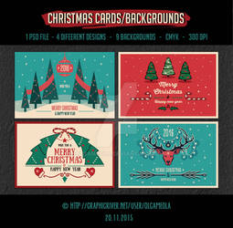 Christmas Backgrounds/Cards Vol.1