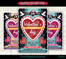 Valentine`s Day Party Flyer Template