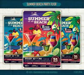 Summer Beach Party Flyer Template #2