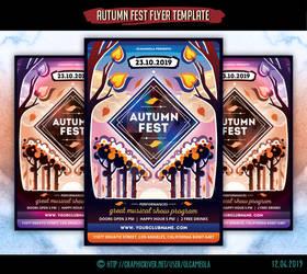 Autumn Music Festival Flyer Template by olgameola