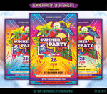 Summer Beach Party Flyer Template by olgameola