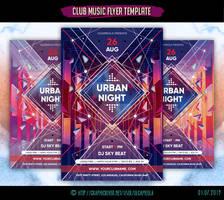 Club Music Flyer Template Urban Night