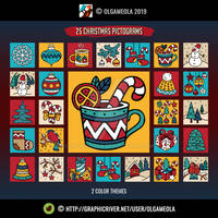 Christmas Icon Set (25 pictograms/icons) - Vol.2