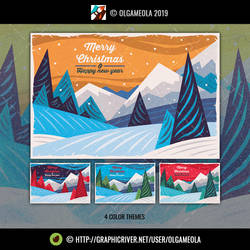 Christmas Greeting Cards/Backgrounds Vol.5 (Card1)