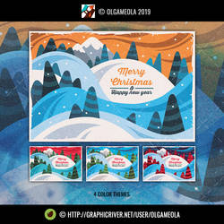 Christmas Greeting Cards/Backgrounds Vol.5 (Card2)