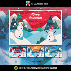 Christmas Greeting Cards/Backgrounds Vol.5 (Card3)